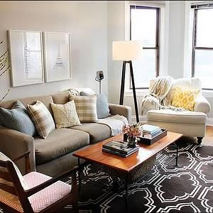 west elm living rooms. Live Creating Yourself  living rooms West Elm taupe sofa tripod