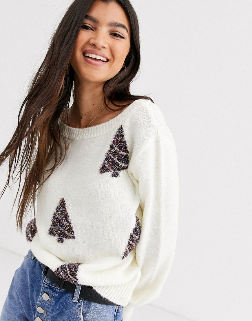 Asos Design Charity Christmas Tree Sweater For Asos