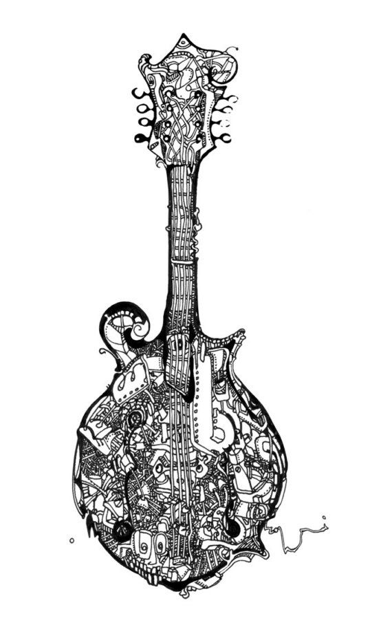 Mandolin No 3 Music Coloring Coloring Books Pokemon Coloring Pages