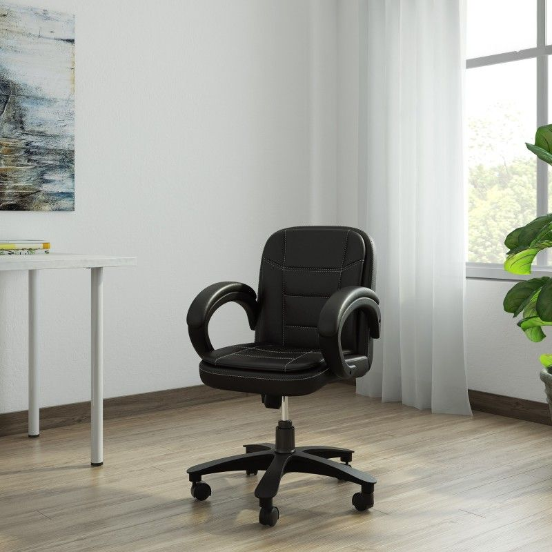 86d6331c0 DZYN Furnitures Leatherette Office Executive Chair (Black)