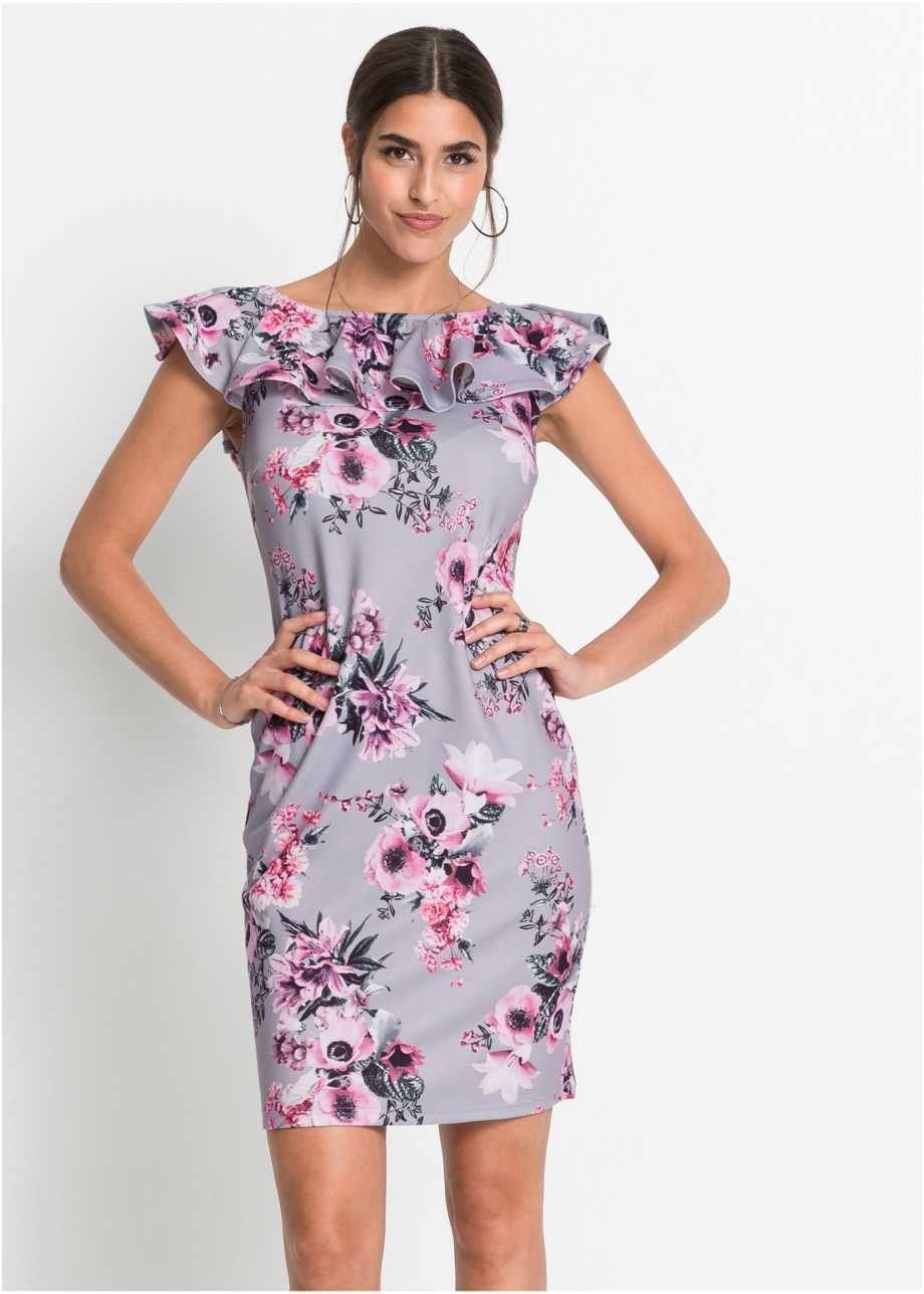 Jerseykleid  Kleider, Rosa grau und Neues kleid