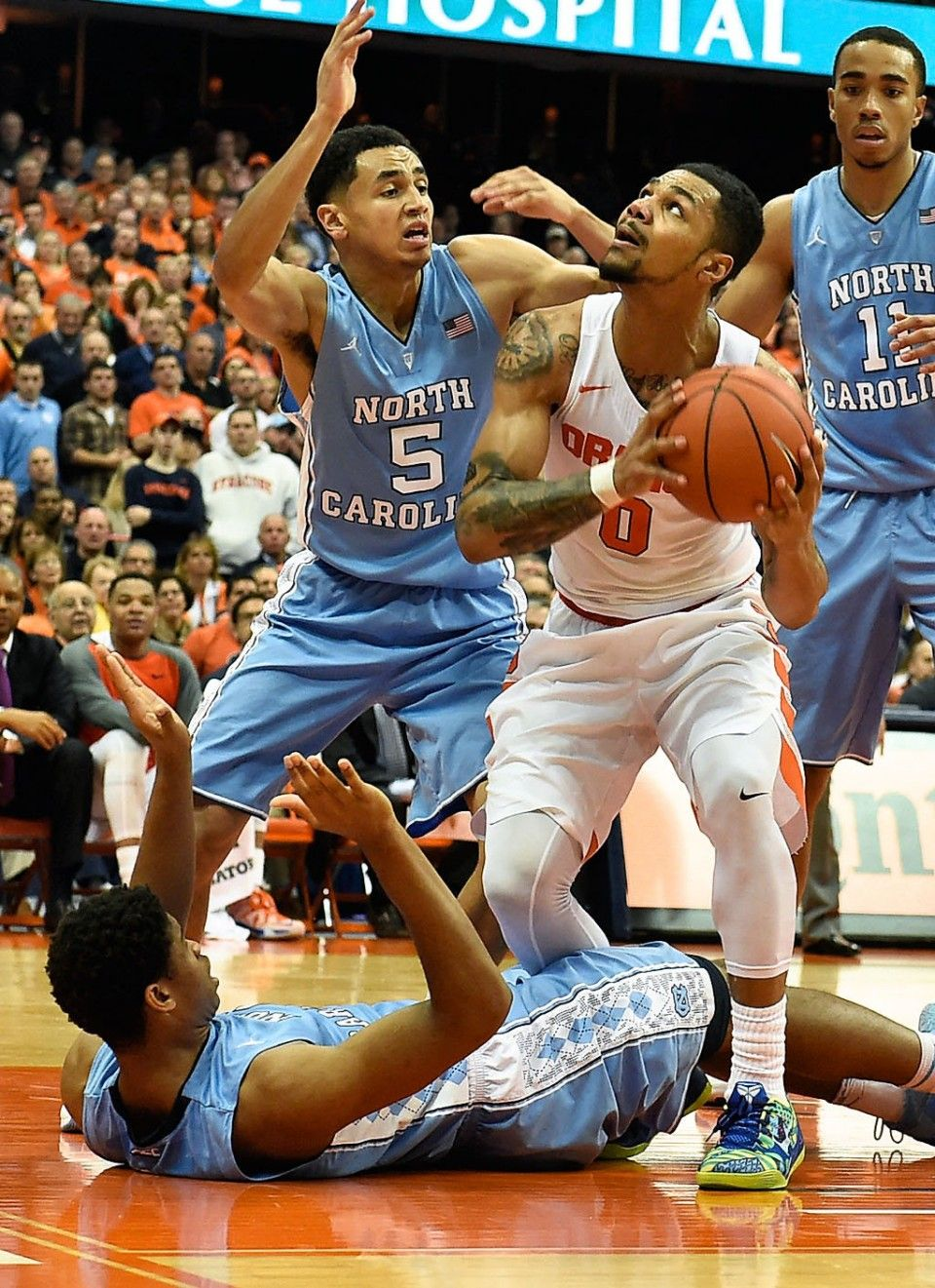 basketball vs. North Carolina 1/9/16 Syracuse basketball