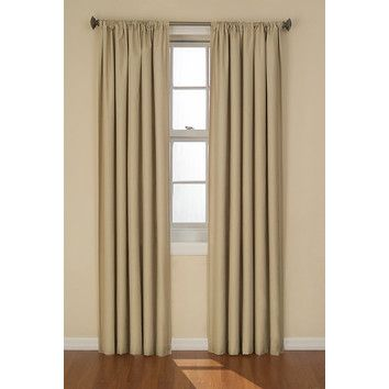 Eclipse Curtains Kendall Window Curtain Single Panel With Images Panel Curtains Curtains Curtain Single Panel
