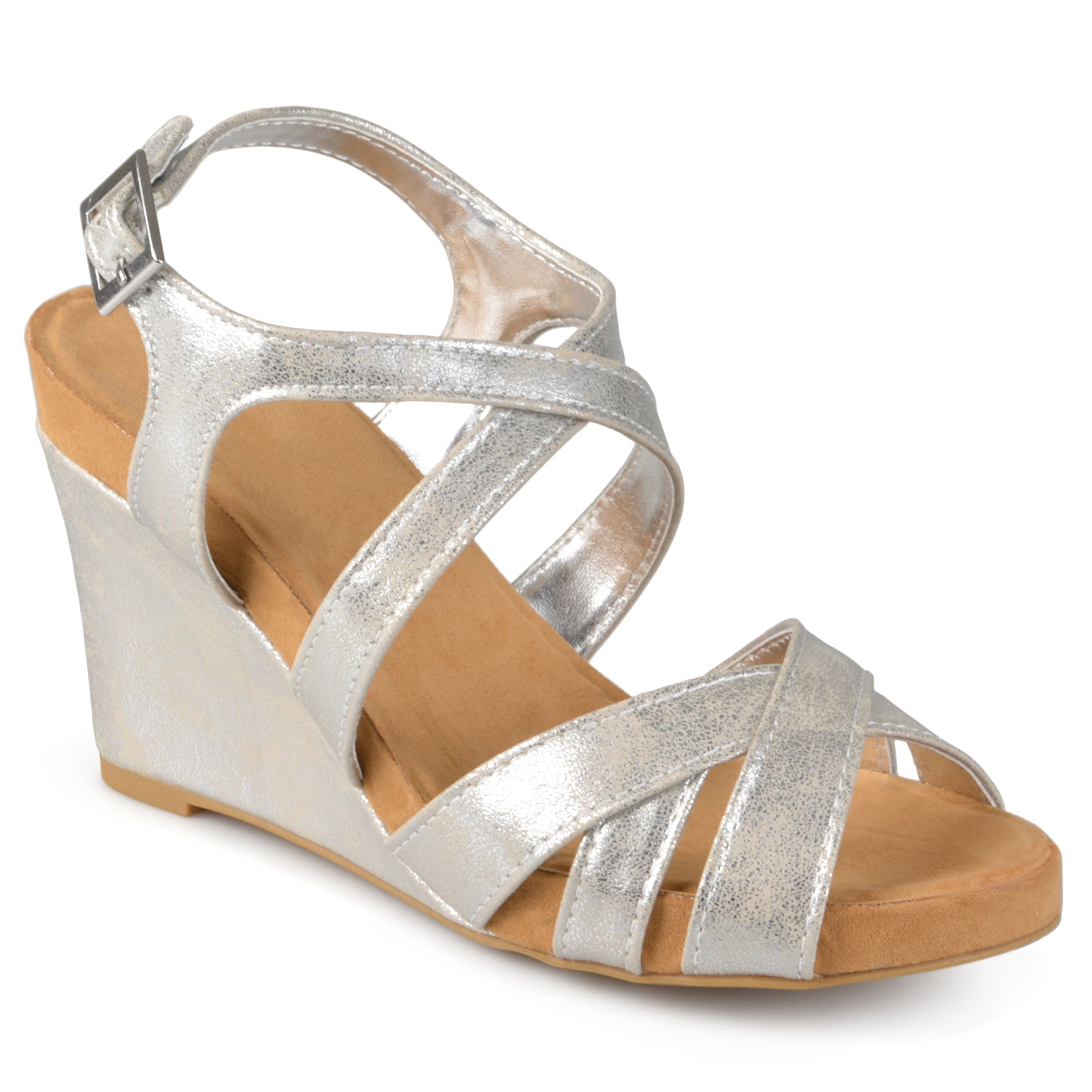 gh in sandal bass metallic fullscreen lyst comforter view sandals g louisa h co shoes comfort wedge