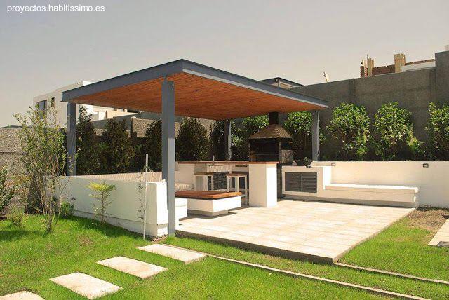 Arquitectura de casas modelos de quinchos modernos for Casa moderna jardines
