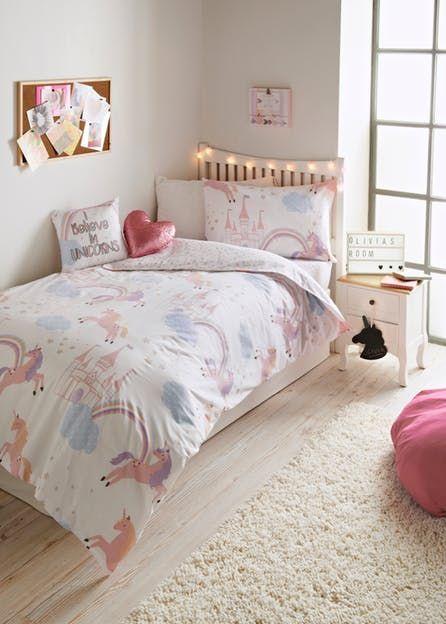 Unicorn Bedroom Set: Girls Unicorn Bedroom Collection – Matalan