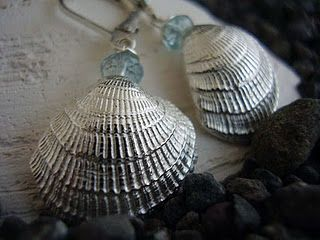 Seashell Earrings.  Locusart Jewelry Designs!