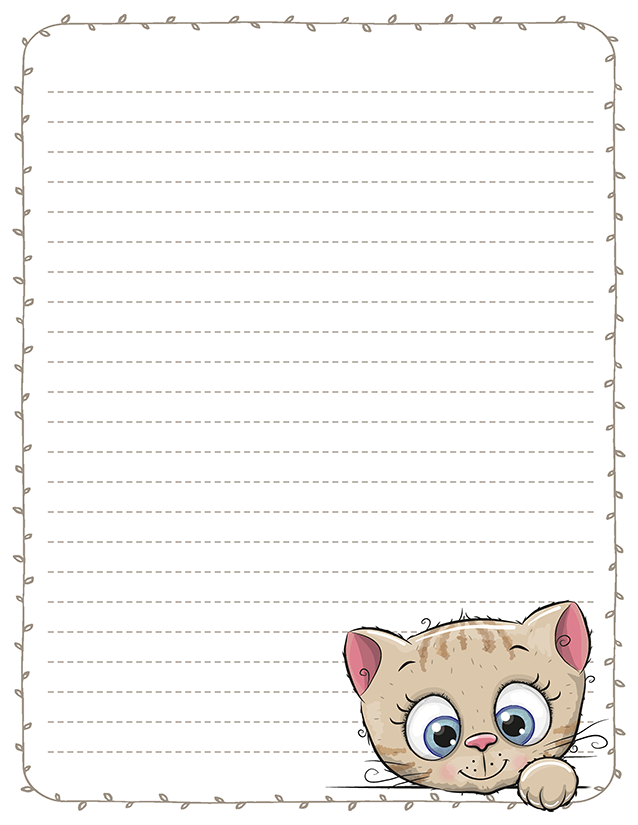 Cute Baby Kittens Stationery Printable Pen Pal Letters Pen Pal Letters Writing Paper Printable Stationery Kids Stationary Printable