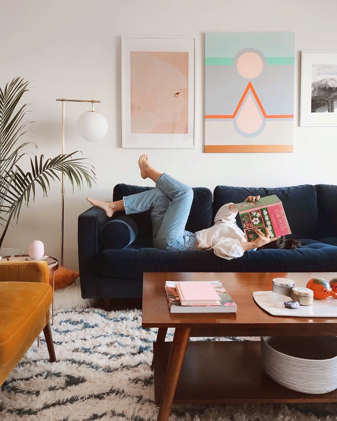 Blue Sofa Living Room Design