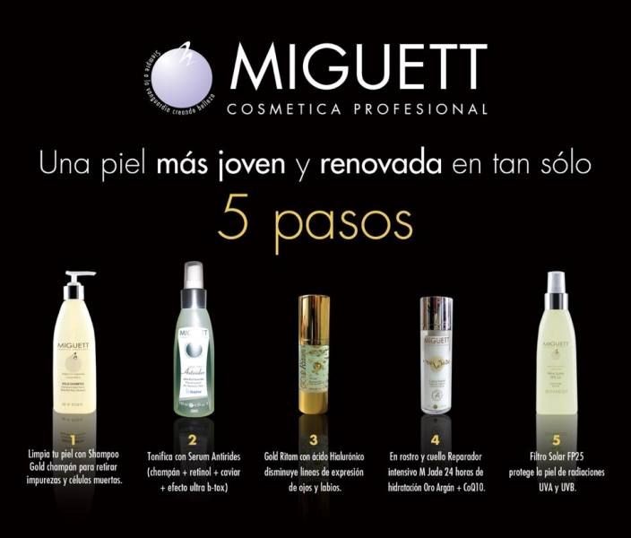 Miguett facial products