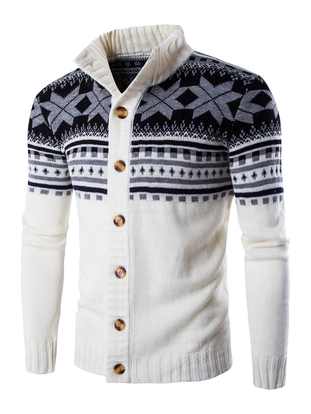 Geometric Design Long Sleeve Sweater Coat | Geometric designs ...