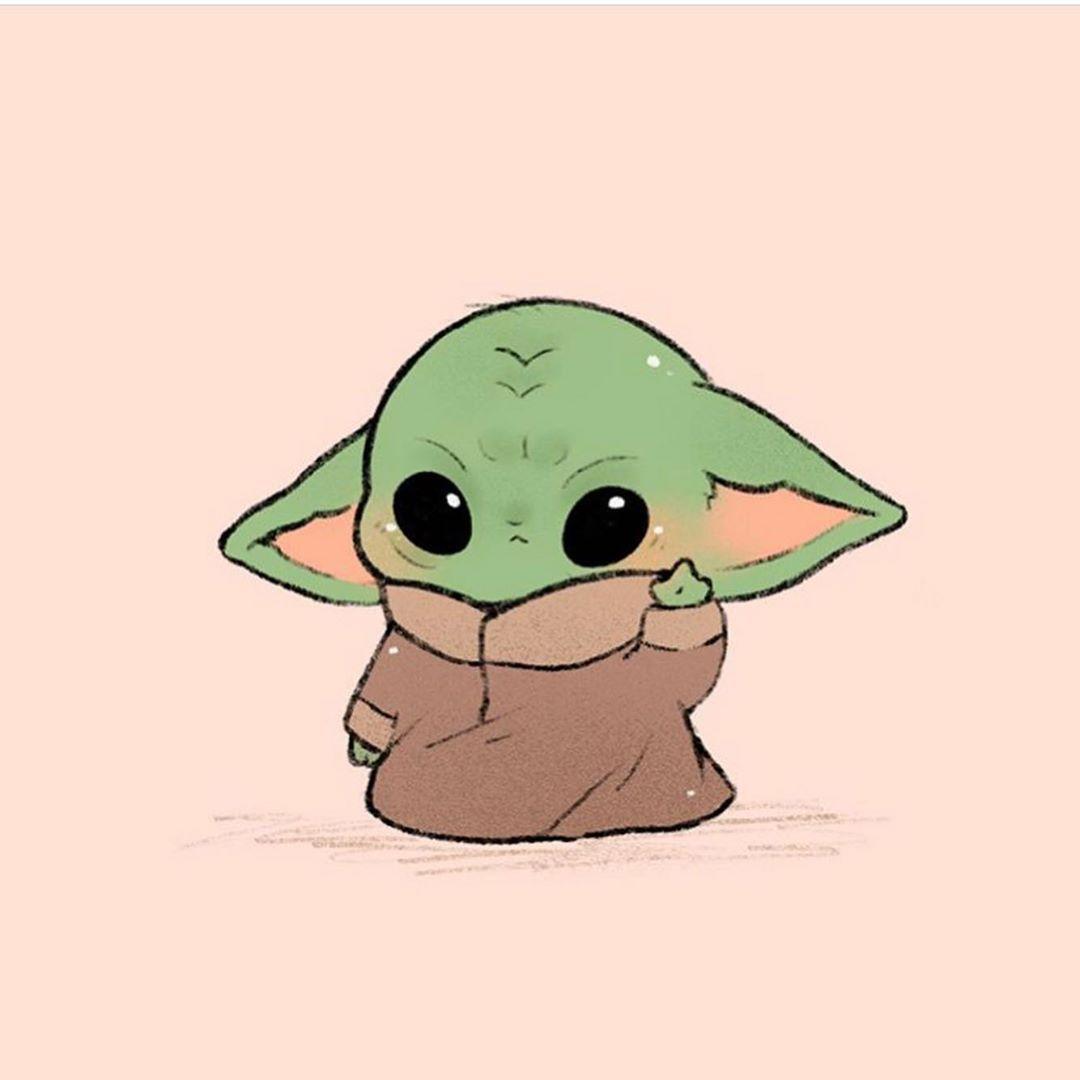 Cute Baby Yoda Wallpaper Animated Http Wallpapersalbum Com Cute Baby Yoda Wallpaper Animated Html Cute Disney Drawings Yoda Drawing Cute Cartoon Drawings