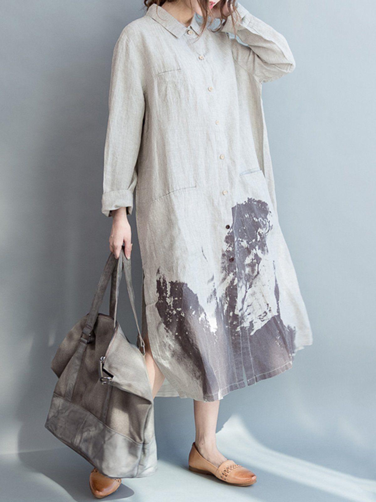 bc4f6b4cce Long sleeve cotton plus size dress – noracora – Artofit