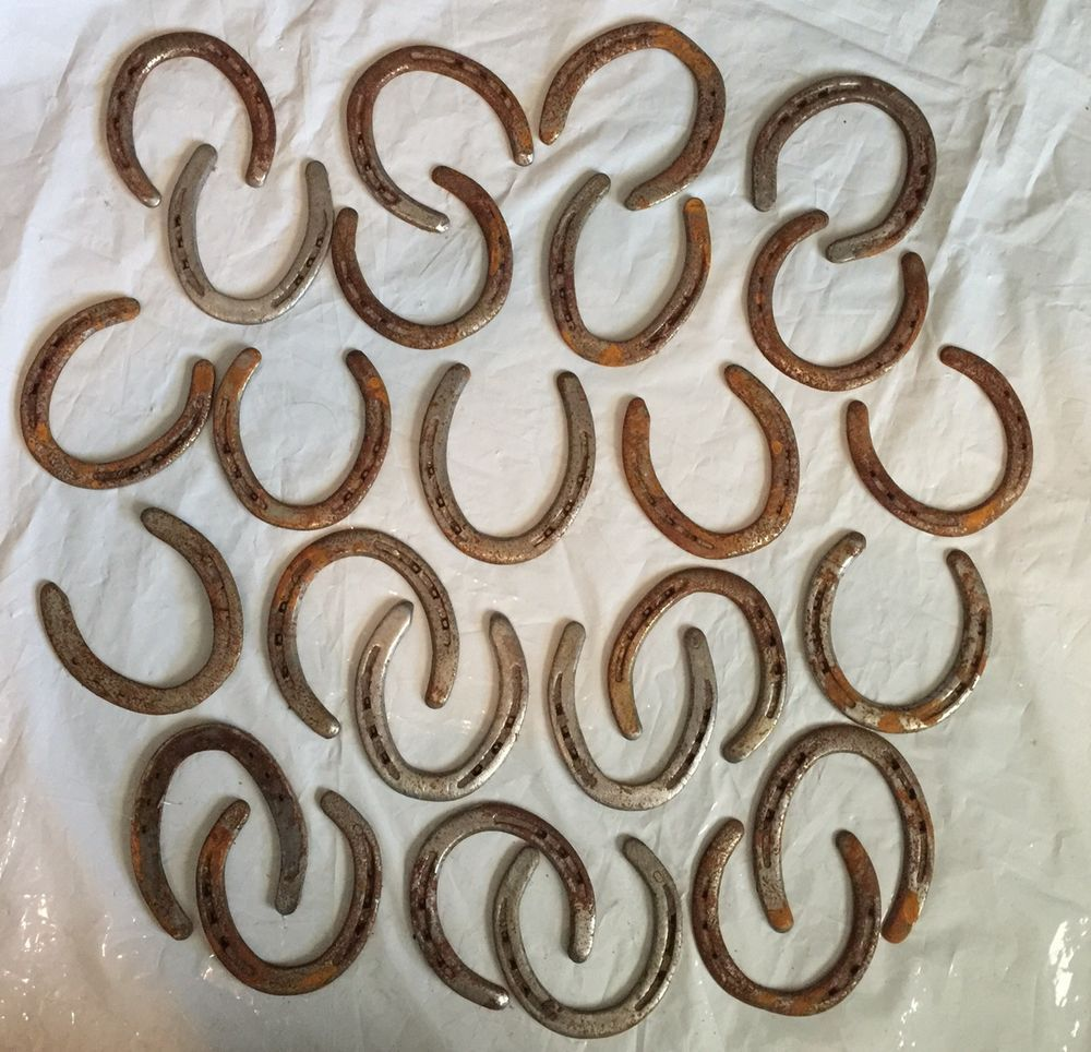 Lot of 25 Used Steel Horseshoes Rustic Decorative Crafts Horse Shoes  #Unbranded