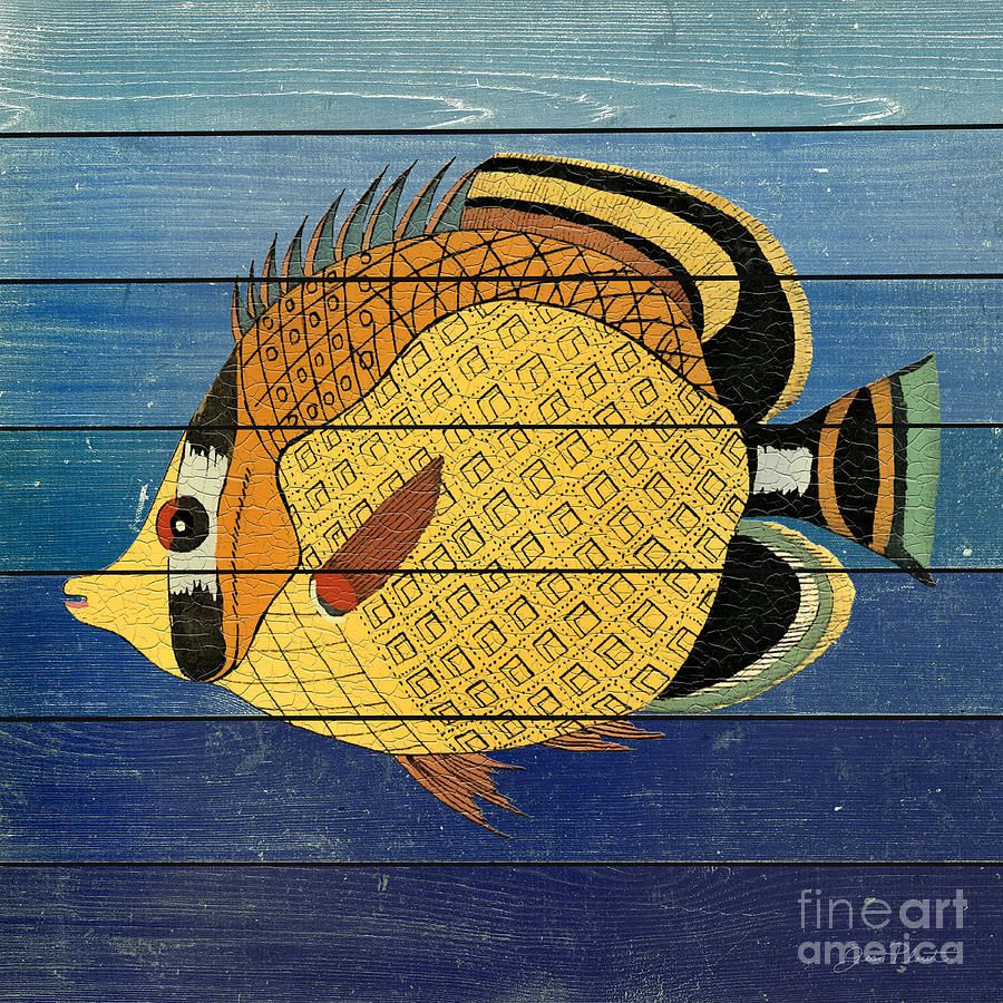 Fanciful Sea Creatures-jp3819 Painting by Jean Plout