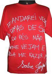 Camisa de Saõ Jorge - escrita à mão