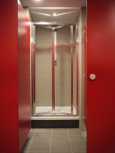 Commercial Washrooms Bifold Shower Door Shower Panels Shower Cubicles