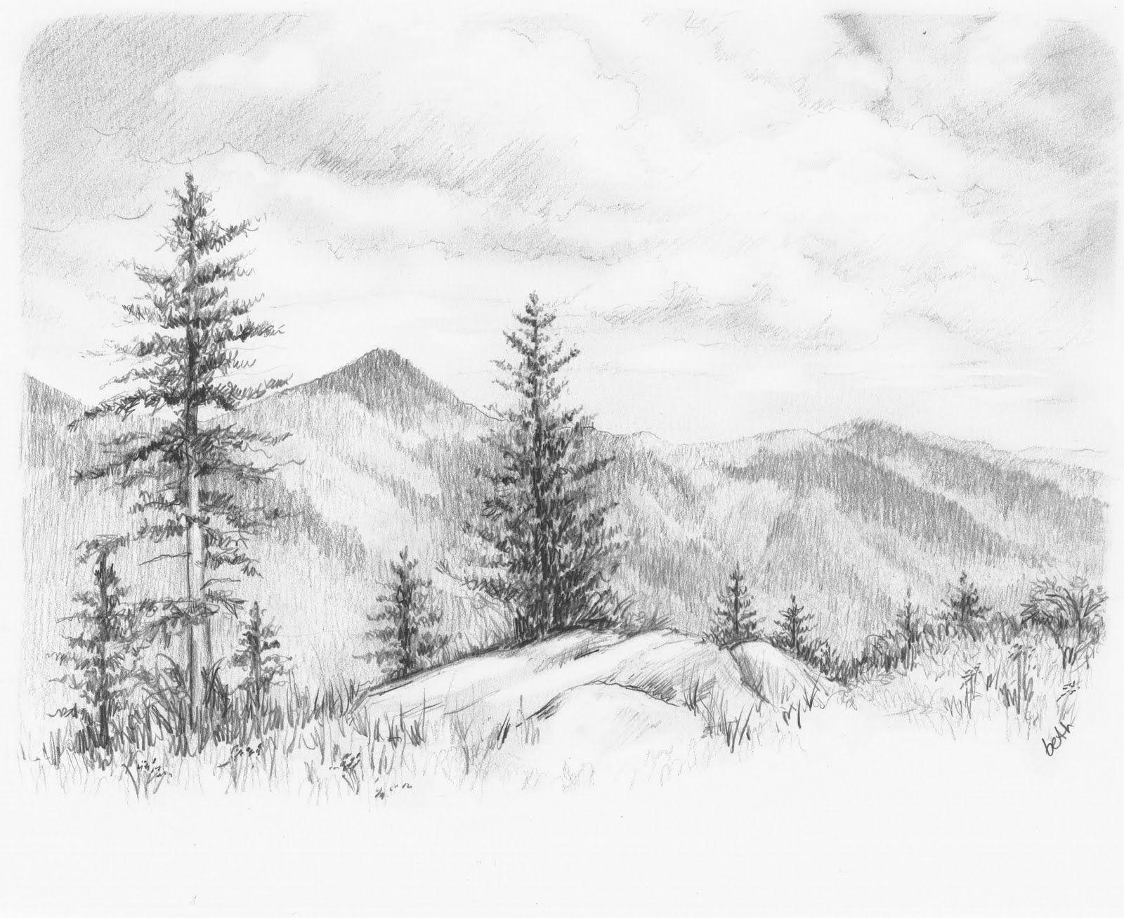 Http 4 Bp Blogspot Com Lt7mqarj10q S8 Vchdgc0i Aaaaaaaaafq O9zvfpcem8g S1600 Parkway Ed Landscape Pencil Drawings Landscape Drawings Nature Drawing Pictures