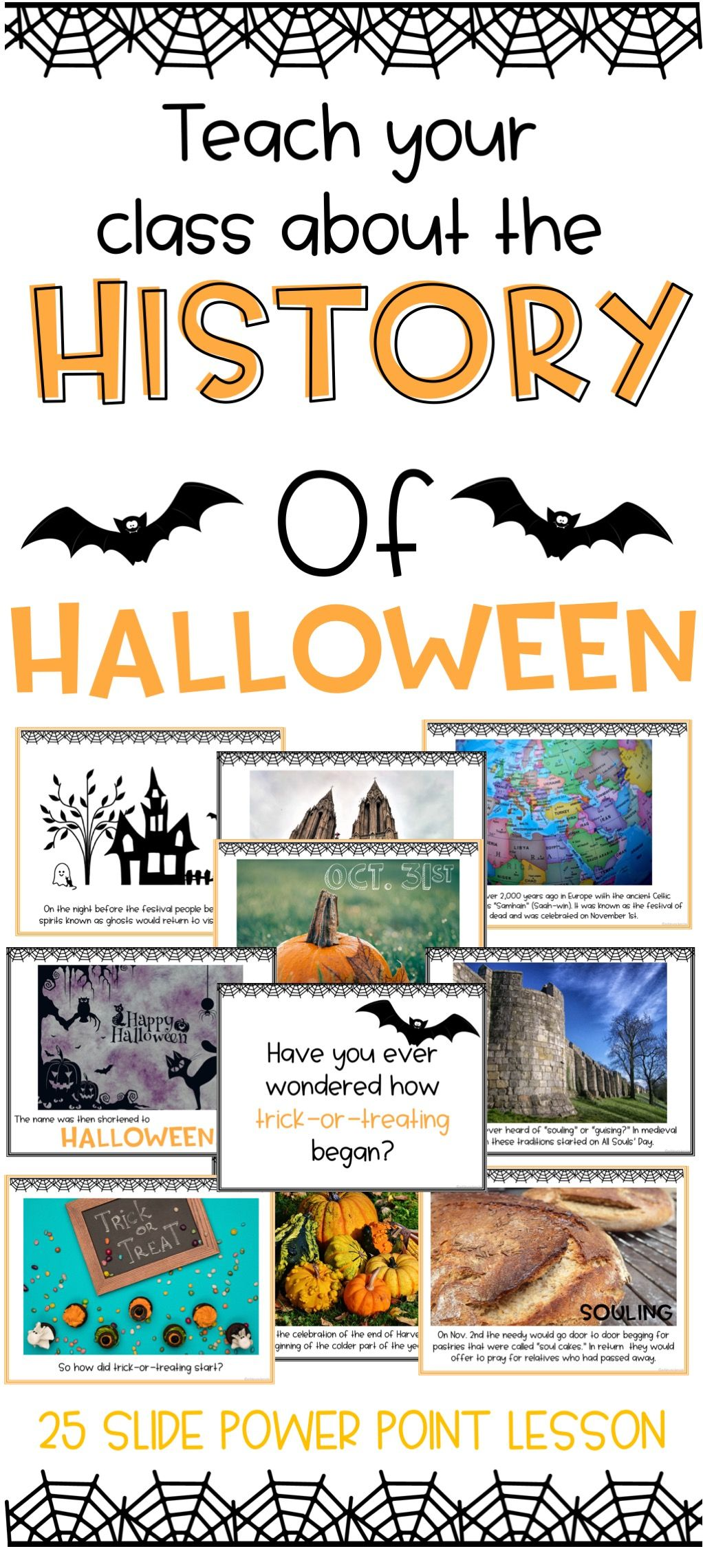 History of Halloween Power Point | Activities, History and School