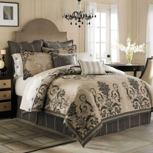 Pin By April Rose On Decorate Pinterest Luxury Bedding Sets Bedding Master Bedroom And
