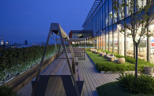 Corporate Terrace Google Search Roof Garden Design Roof Garden Google Office