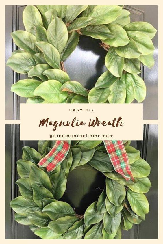 Photo of Simple DIY Magnolia Wreath Tutorial – Wreath Making on a Budget