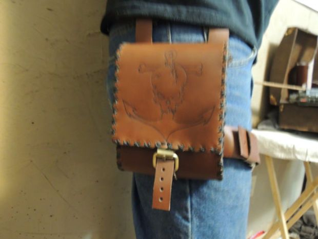 Brown Leather Adventure Pouch Utility Pouch Leg Pouch