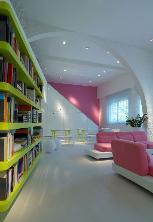 Micheli Residence By Simone Micheli Home Library Design