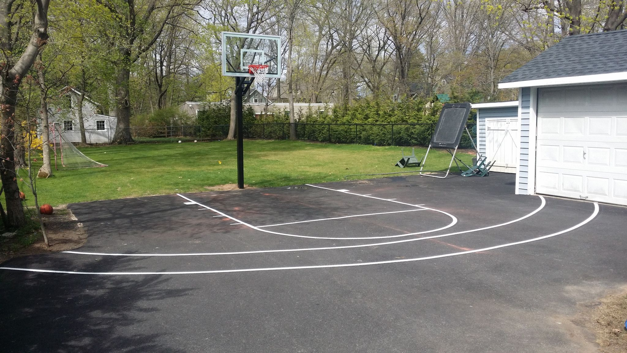 Driveway Basketball Court Line Painting Service   Painting