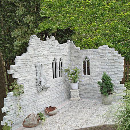Garten deko Mauer Pinterest Garten deko, Gärten und Deko - garten sichtschutz mauer