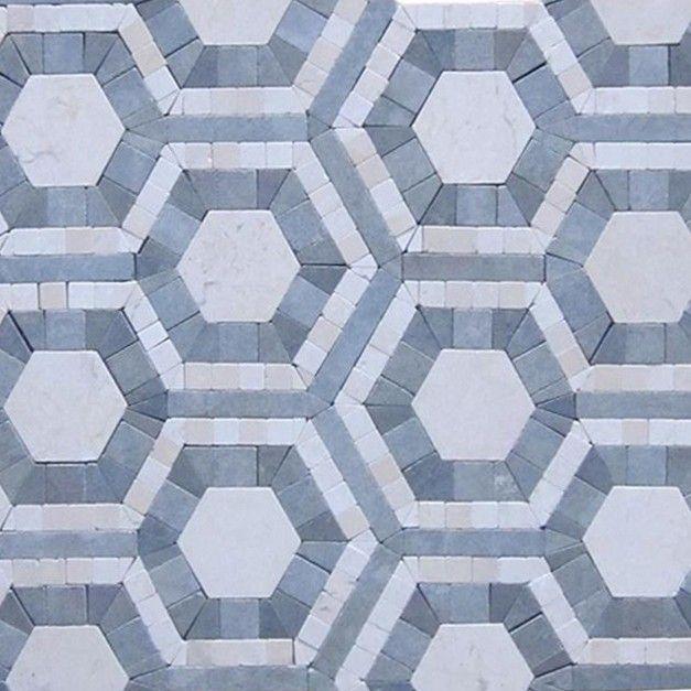 Cosmos Carrara Moonstone Hexagon Marble Tile