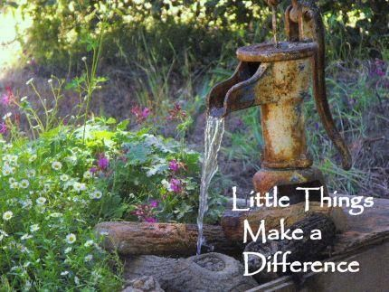 Love a pump fountain.