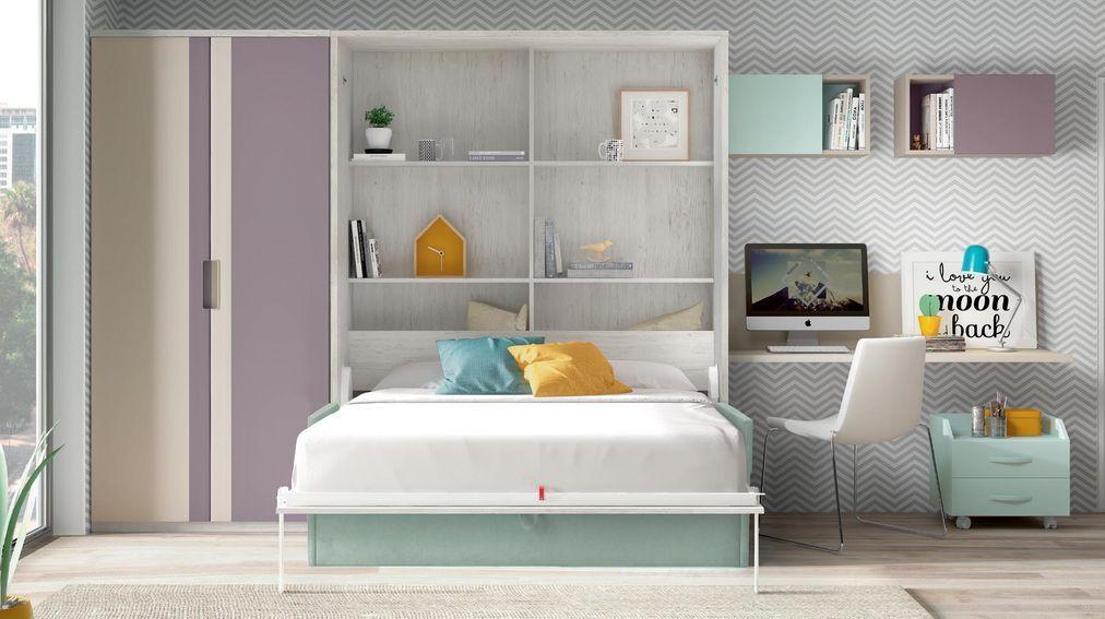 Diseno Juvenil Mueble Juvenil En Madrid Habitaciones Juveniles Cama Abatible Con Sofa Muebles Dormitorio Juvenil
