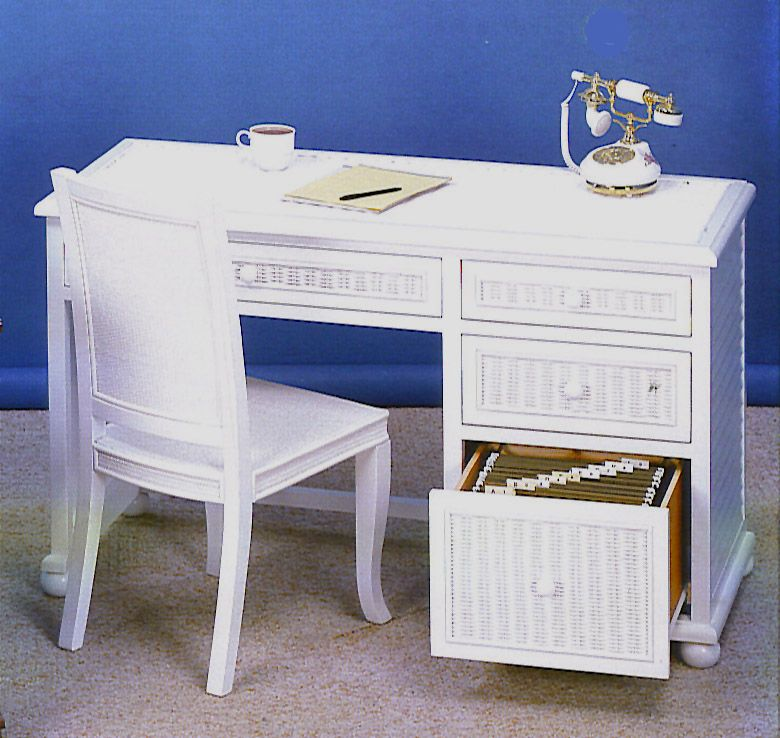 Bedroom Office Furniture: Seaside Desk, Desk Chair, Cabinets, And Bedroom Suite