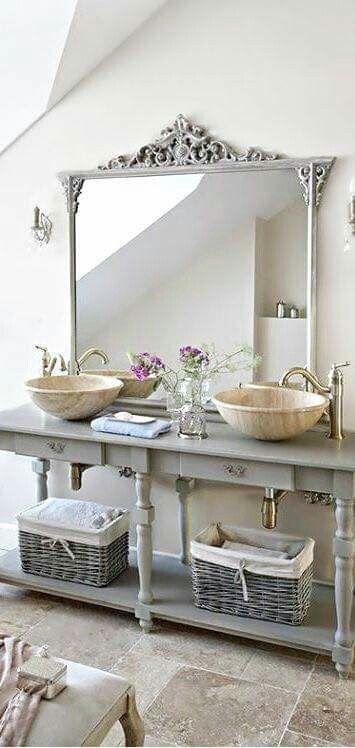Modern And Old World European Bathroom