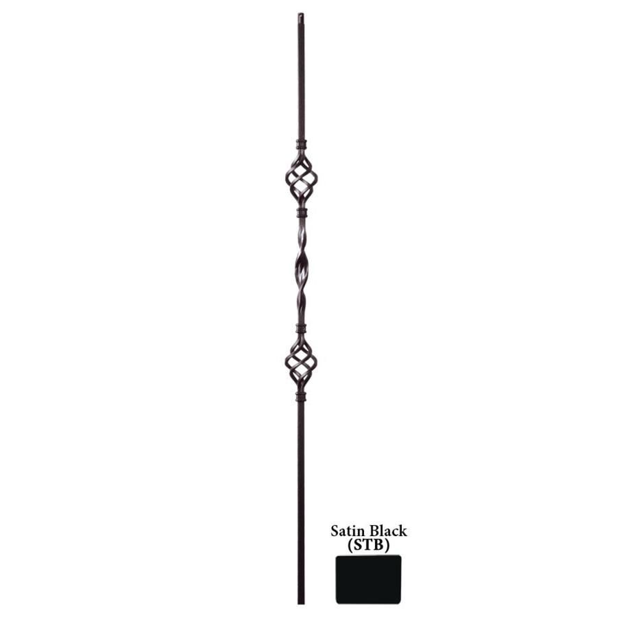 Best House Of Forgings Ribbon Twist 44 In Satin Black Wrought 400 x 300