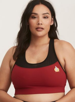4e9ae0983a86f Her Universe Star Trek Mesh Inset Active Sports Bra