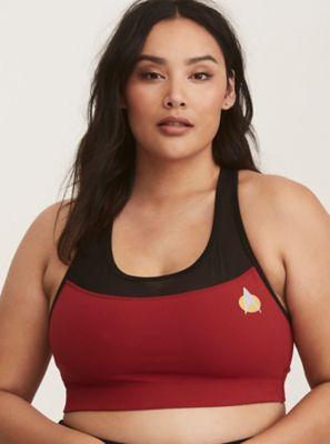 9971e0b1f0108 Her Universe Star Trek Mesh Inset Active Sports Bra