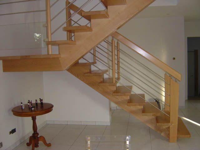 Escalier Double Quart Tournant Avec Palier Repos Main Courante