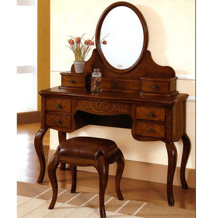 Buy Classic Vanity Set Kartini | Mahogany Antique Furniture | Indonesia  Furniture - Buy Classic Vanity Set Kartini Mahogany Antique Furniture
