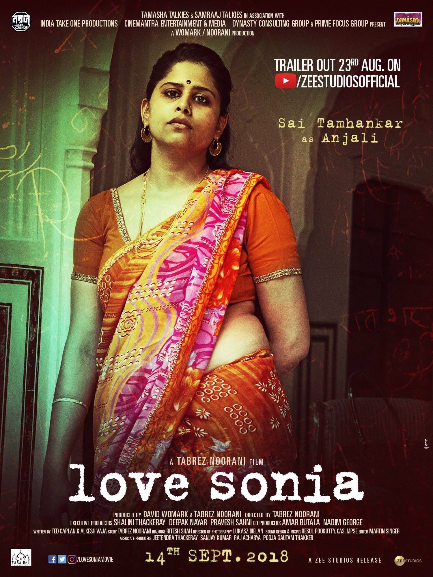 Love Sonia Sai Tamhankar Indian Film Actress Sonia