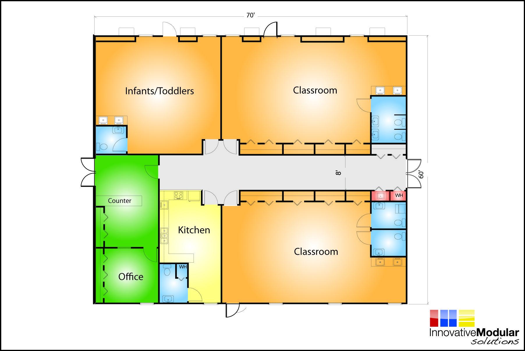 Day Care Building Floor Plans Daycare Floor Plan Daycare Design