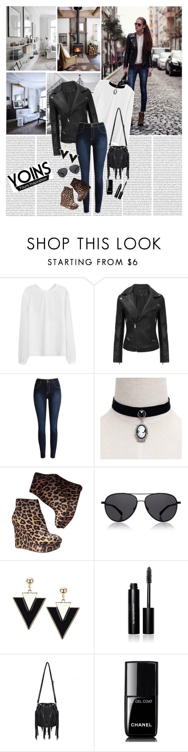 """YoIns Chokers"" by katarinamm ❤ liked on Polyvore featuring Charlotte Olympia, The Row, Bobbi Brown Cosmetics, Chanel and yoinscollection"