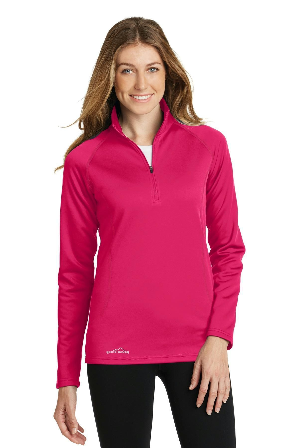 Eddie Bauer Ladies 1/2Zip Base Layer Fleece EB237 Eddie