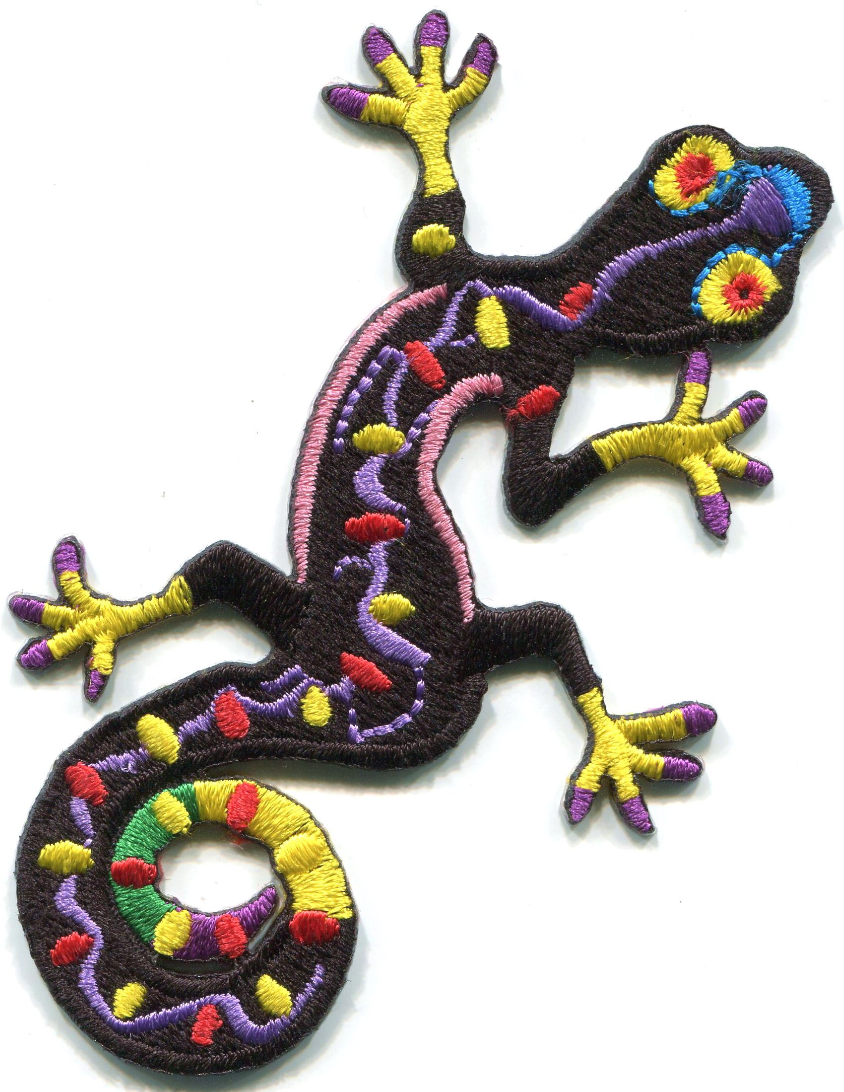Iron-On Patch Salamander Lizard