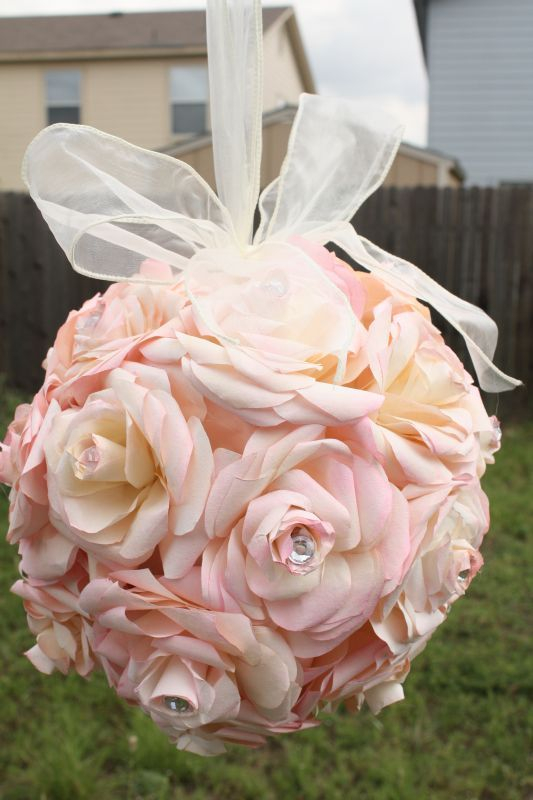 DIY Coffee Filter Flower Balls Pomanders The Martha Stewart Tutorial Is On This Link Looks A Little Extensive But End Result Worth It