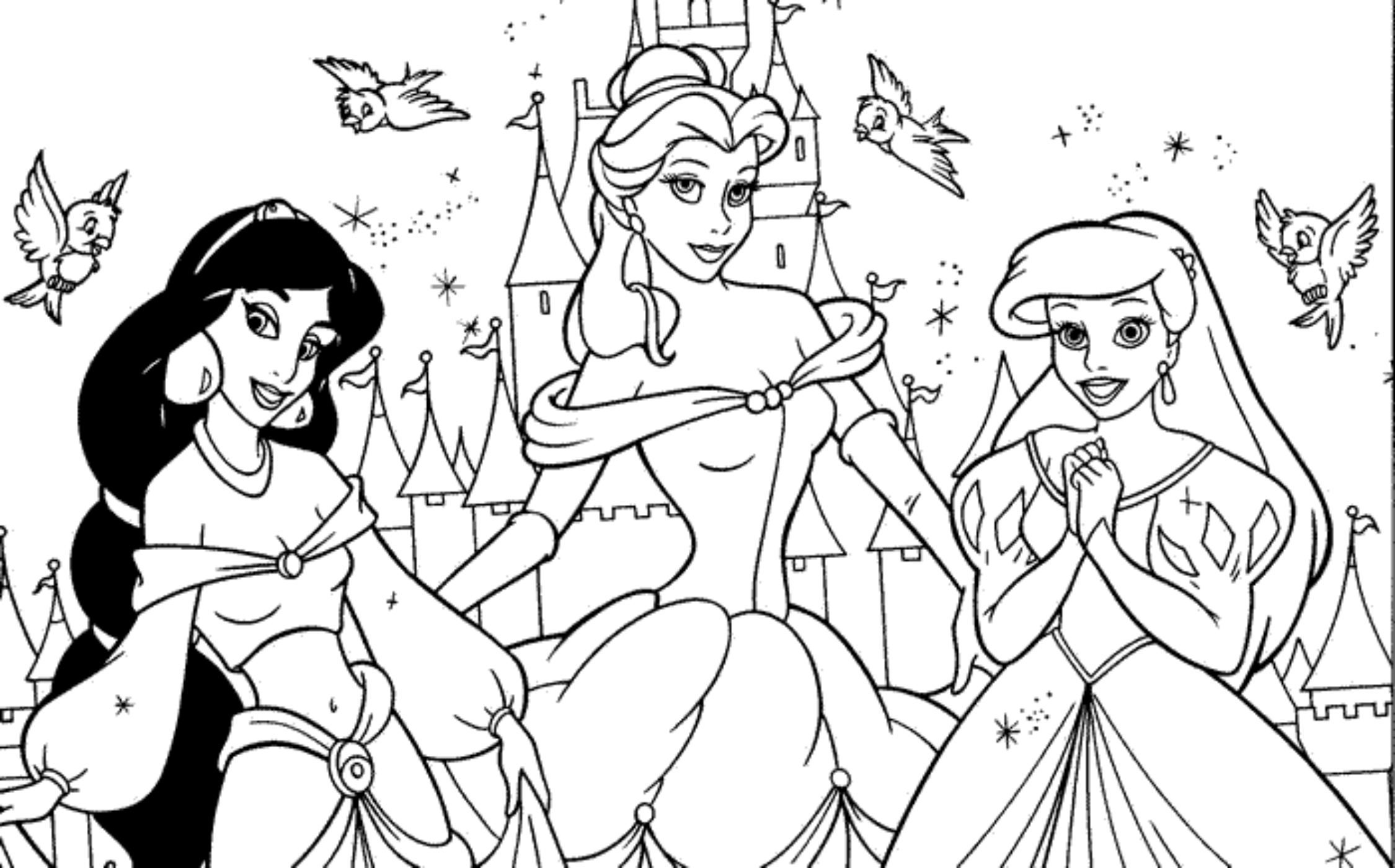 Princess Coloring Pages 48 Kids Ideas Gallery
