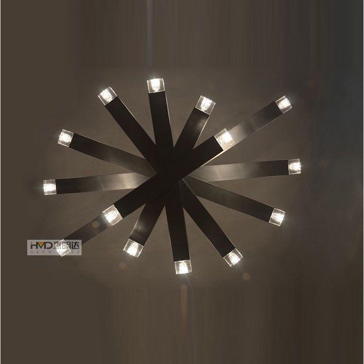 Simple Elegance Crystal Living Room Ceiling Lamp Creative