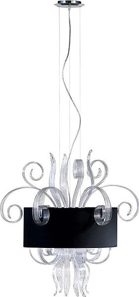 cyan design jellyfish clear medium pendant clear and black