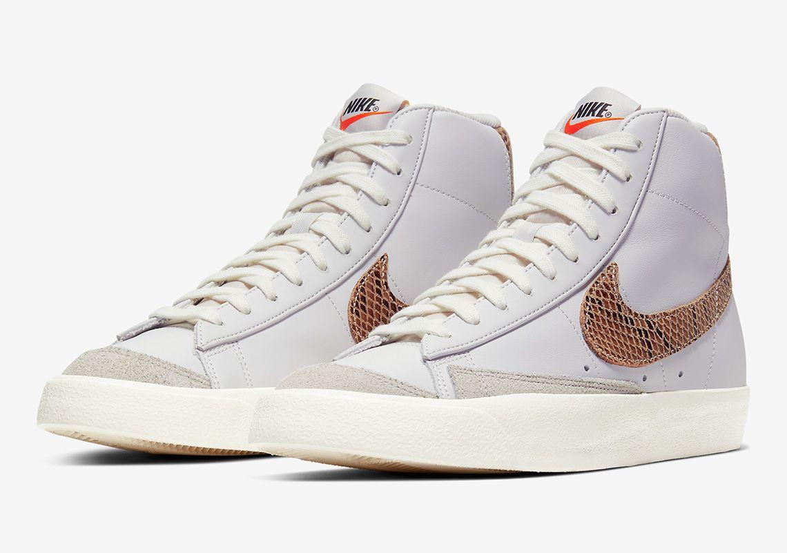 The Nike Blazer Mid 77 Utilizes The AF1 Python Snakeskin